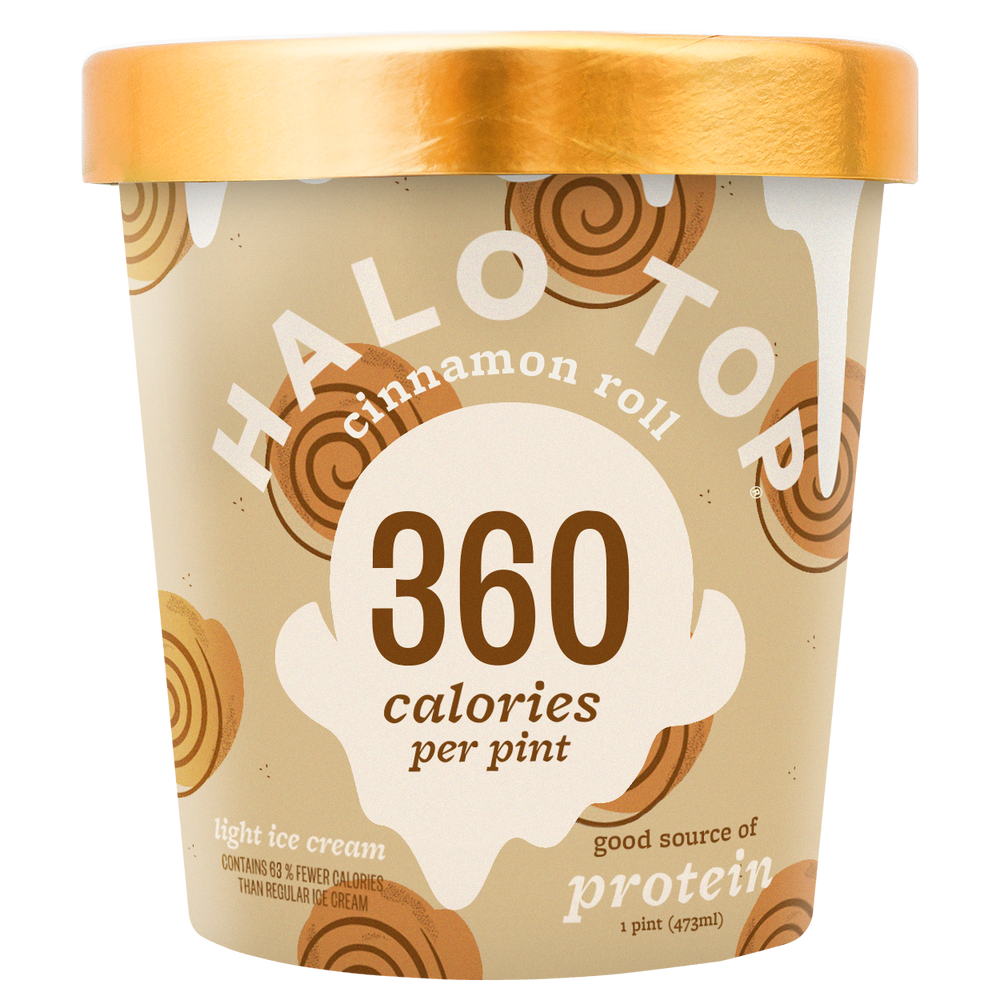 halo top cinnamon roll ice cream