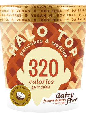 halo top low calorie pancakes and waffles non-dairy frozen dessert