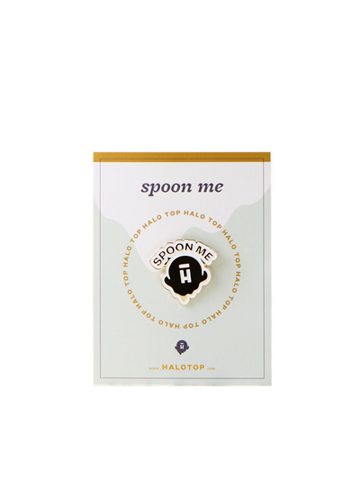 Halo Top logo spoon me pin