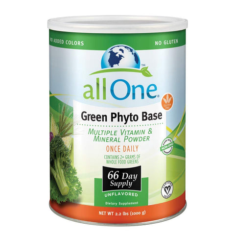ALL ONE Green Phyto Base Multiple Vitamin and Mineral Powder, Unflavored, 66...