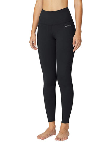 Baleaf Women's High Waist Yoga Pants Inner Pocket Non See-Through Fabric