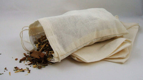 5 Pack of Culinary Muslin Bags, 4x6 inches (approx.), teabag, tea, herbs