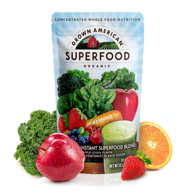 Grown American Superfood | 31 Organic Whole Fruits and Vegetables Condensed...