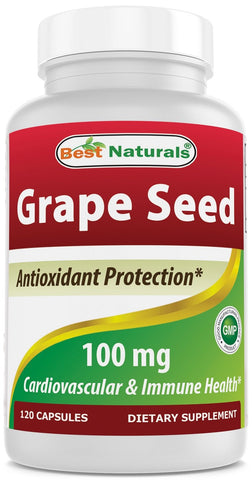 Best Naturals Grapeseed Extract 100 mg Capsule, 120 Count