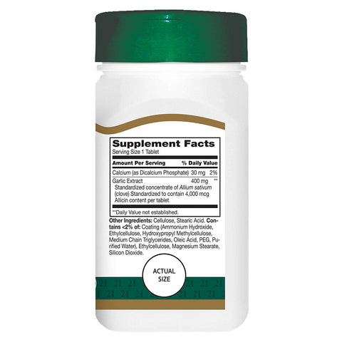 21st Century Garlic (odorless) Tablets, 60 Count