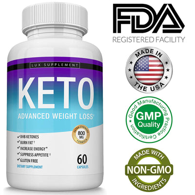 Shark Tank Keto Weight Loss Pills Advanced - BHB Salt Fat Burner Using...