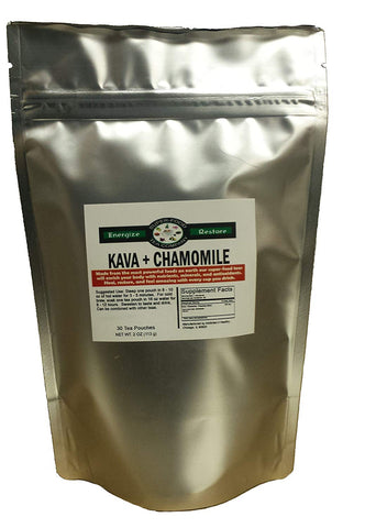 30 Kava & Chamomile Tea Bags - Stress • Anxiety • Relaxation • Calm