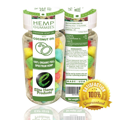 35ct Premium Hemp Gummies - 22mg Per Gummy Bear - Organic Full Spectrum -...