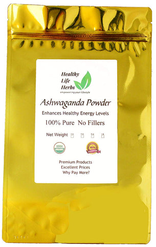 Ashwagandha Powder 1 oz > 2 lb - Certified USDA Organic (8 oz)