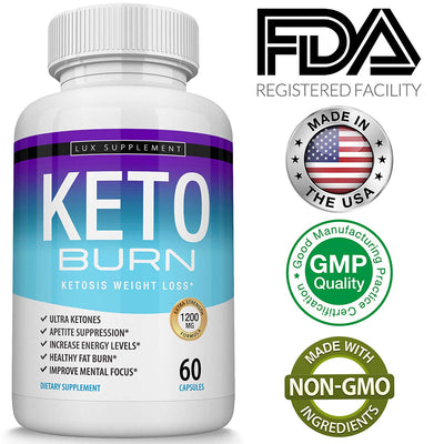 Shark Tank Keto Burn Weight Loss Pills – Ultra Advanced Ketosis Fat Burner...