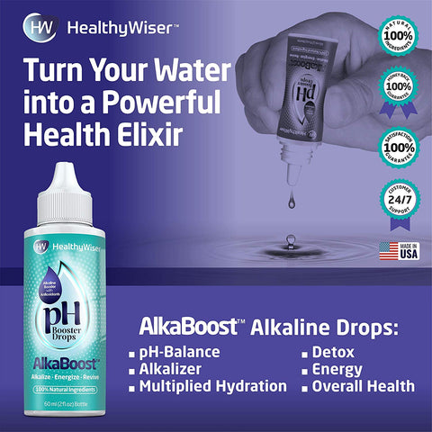 Alkaline Water Drops With Natural Antioxidant 2oz, Purifier Filter...