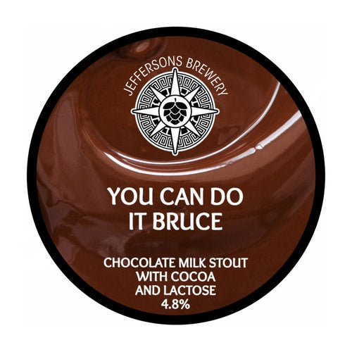 You Can Do It Bruce - Chocolate Milk Stout, 4.8% (12 x 440ML Cans)