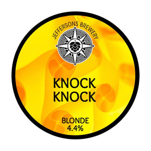 |DRAUGHT BEER| Knock Knock - Blonde, 4.4% (6 X PINTS) SAT 10TH APRIL