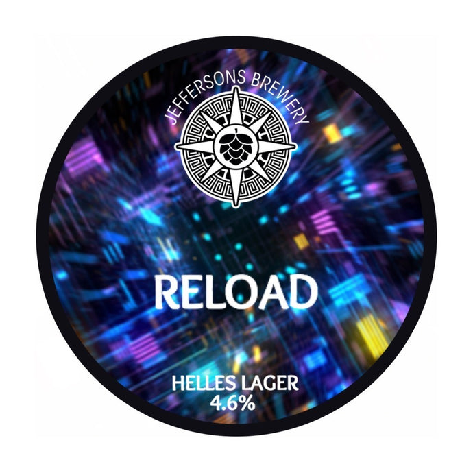 Reload - Helles Lager, 4.6% (6 x 330ml Cans)