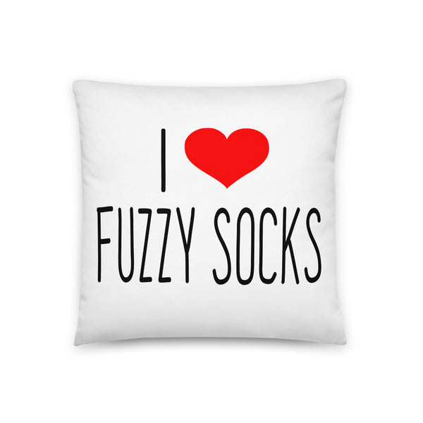 I LOVE FUZZY SOCKS Basic Pillow