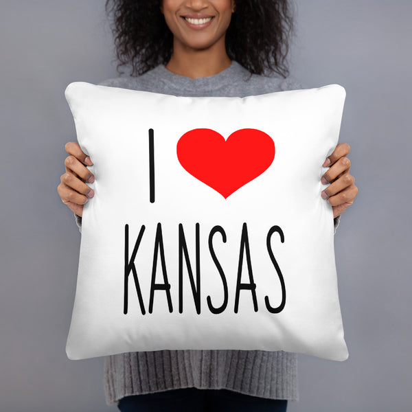 I Love KANSAS Basic Pillow