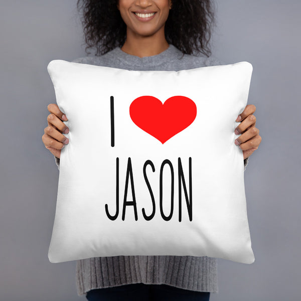 I Love JASON Basic Pillow
