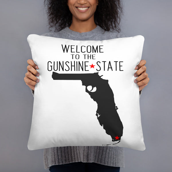 Welcome to the GUNSHINE State - Florida Basic Pillow
