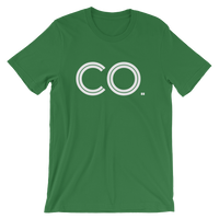 CO- State of Colorado Abbreviation Men' / Unisex short sleeve t-shirt