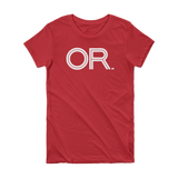 OR - State of Oregon Abbreviation Short Sleeve Women's T-shirt