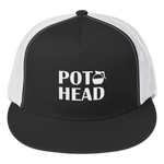 Pot Head - Embroidered Coffee Pot Snapback Trucker Cap