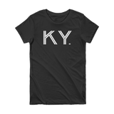 KY - State of Kentucky Abbreviation Short Sleeve Women's T-shirt