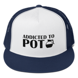 Addicted To POT Embroidered Snapback Trucker Cap Hat