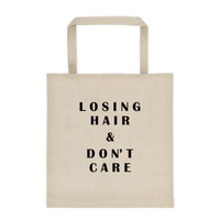 Losing Hair & Don't Care Durable Canvas Tote bag