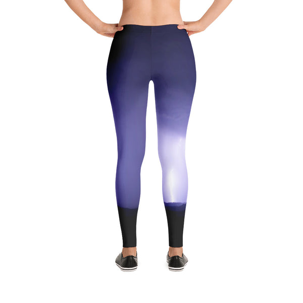 Lightning All Over Print Leggings - Yoga Pants