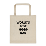 World's Best DAD - Durable Canvas Tote bag