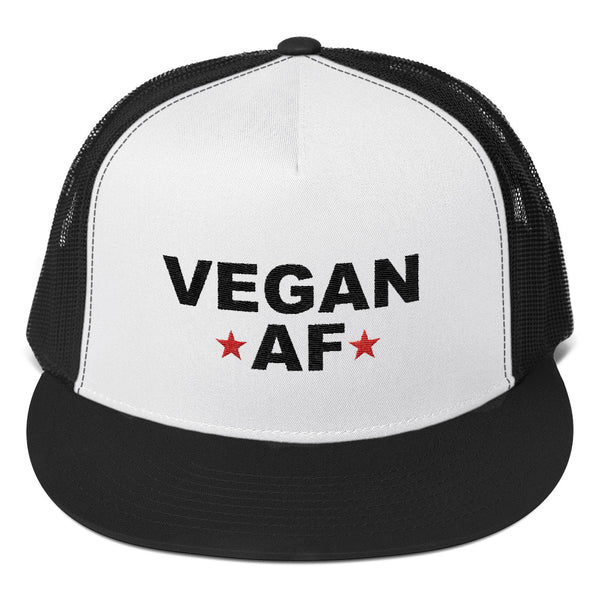 VEGAN AF Snap Back Retro Style Trucker Cap / Hat
