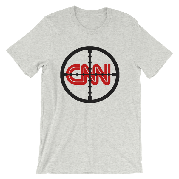 CNN With Cross Hairs Fake News - Men's Unisex short sleeve t-shirt