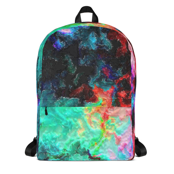 Cosmic Watercolor Backpack / School Computer Bag