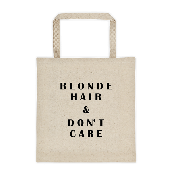 Blonde Hair & Don't Care Durable Canvas Tote bag