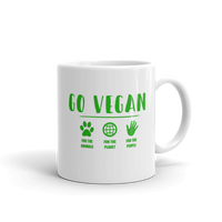GO VEGAN Coffee Mug - Vegan Coffee Cup