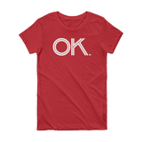 OK - State of Oklahoma Abbreviation Short Sleeve Women's T-shirt