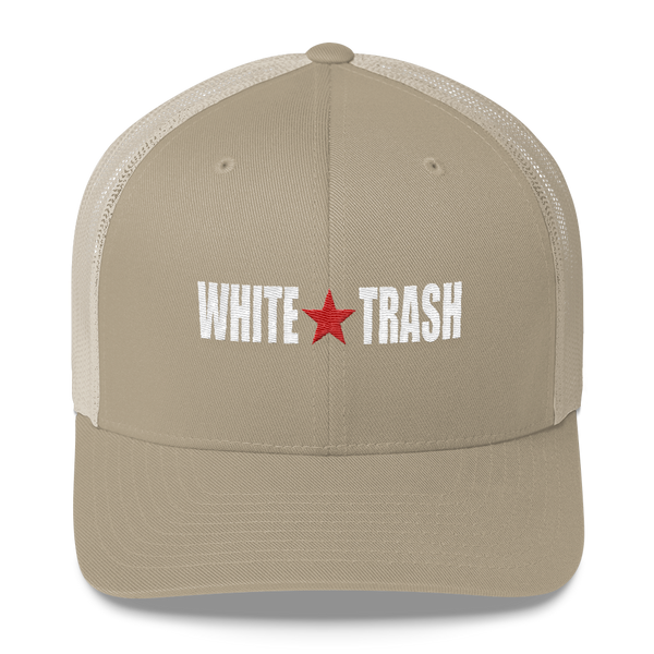 b0dd3e95 White Trash W/ Limited Rags Red Star Embroidered Trucker Cap