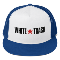 White Trash With Limited Rags Red Star Snapback Trucker Cap