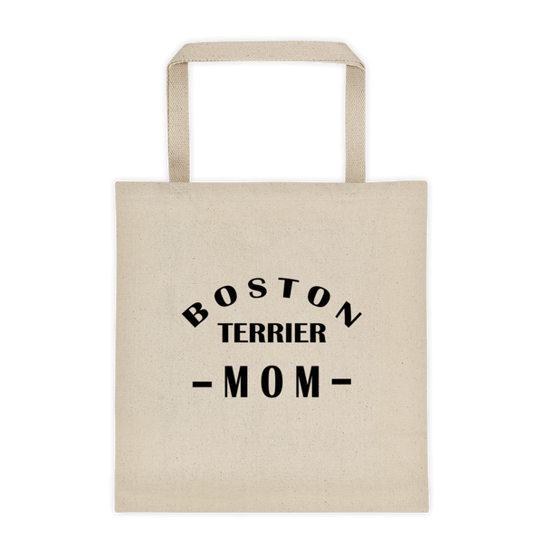 Boston Terrier MOM - Durable Canvas Tote bag