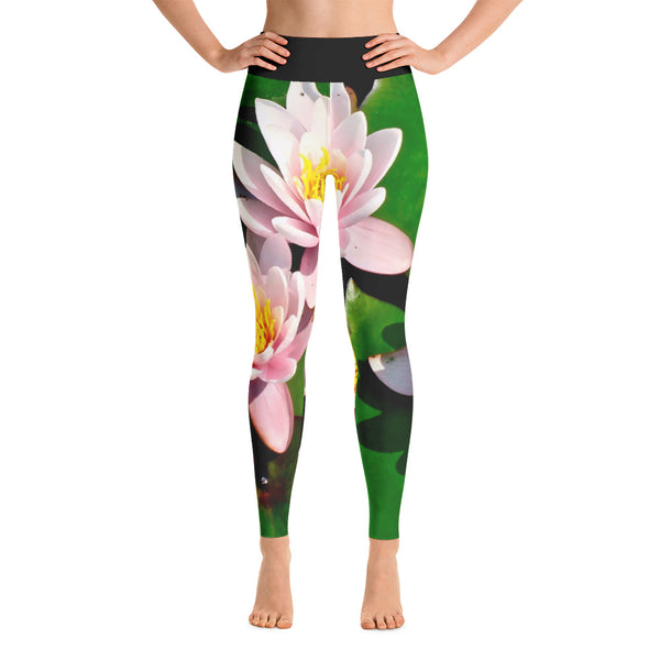 LOTUS Water Lily All Over Print Yoga Pants / Leggings