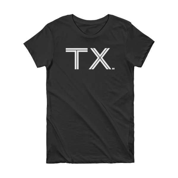 TX - State of Texas Abbreviation Short Sleeve Women's T-shirt