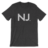 NJ - State of New Jersey Abbreviation  - Men's / Unisex short sleeve t-shirt