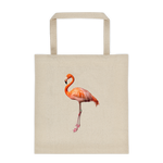 Pink Flamingo Durable Canvas Tote Bag