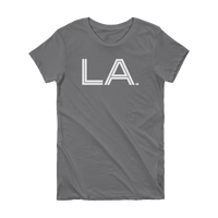 LA- State of Louisiana Abbreviation Short Sleeve Women's T-shirt