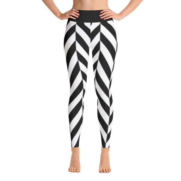 Herringbone All Over Print Yoga Pants / Leggings