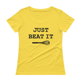 Just Beat It - Wire Whisk Funny Ladies' Scoopneck T-Shirt