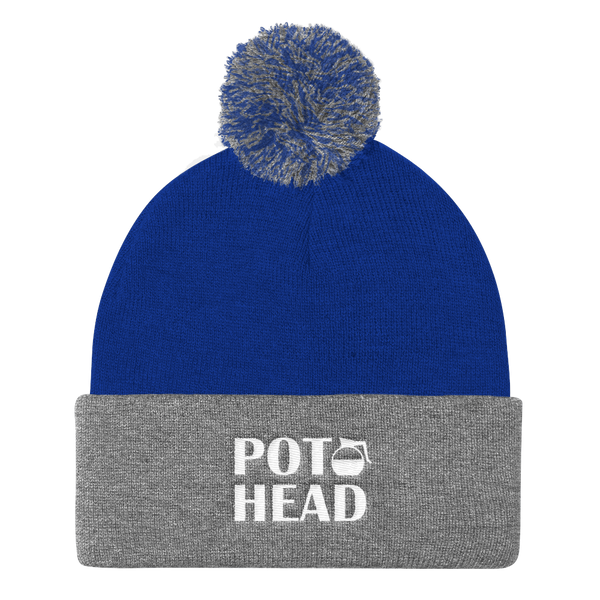 POT HEAD Funny Coffee Pot - Pom Pom Knit Cap