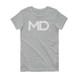 MD- State of Maryland Abbreviation Short Sleeve Women's T-shirt