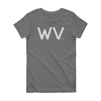 WV - State Of West Virginia Abbreviation Short Sleeve Women's T-shirt