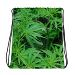Marijuana All Over Print Drawstring bag